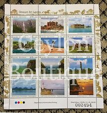 Unseen Sri Lanka 12 Stamps in Sheetlet