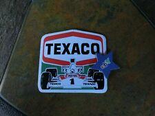 Texaco Formel 1 Aufkleber/Sticker,Sammlerstück,rar,Erstbesitzer,