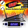 Professional UHF Wireless Microphone System 2 Handheld Cordless Microphones Home