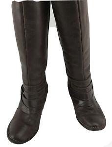 Jessop Brown Leather Wide Cafe Boots by Lassen Women 8.5 N72