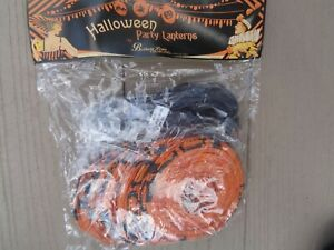 Bethany Lowe Black Cats~Witches~Jol's 10 Paper Lantern Party Lights New