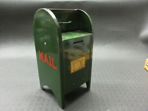 VTG. 50's - 60's GREEN ALL AMERICAN MAIL BOX BANK