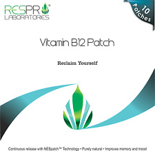 Respro Labs High Potency Vitamin B12 Energy Patch - 10 Patches