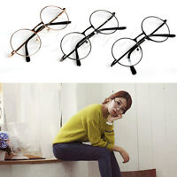 Unisex Round Presbyopic Reading Glasses Metal Frame Retro Personality Eyeglass