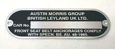 Classic Mini New Austin Morris Replacement Chassis Plate - Austin Mini
