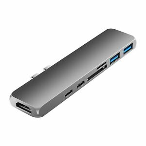 7 IN 1 Type C To USB C, SD reader, HDMI HD 4K, USB 3.0 Adapter HUB For MacBook