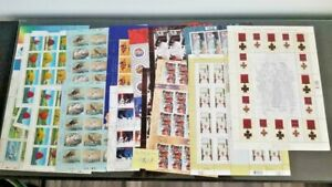 CANADA POSTAGE STAMPS x 16 Sheets of 42c,43c,47C,49c MINT $112.2 CAD Face Value