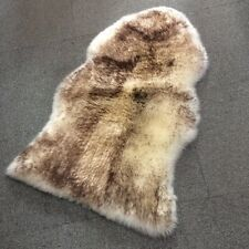 "Australia Sheepskin Rug Big size 42X26"" White+Brown"