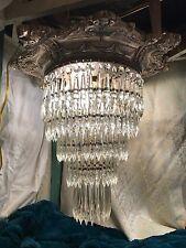 Gothic Victorian Antique Crystal Chandelier Lighting Antique Prisms