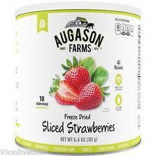 Augason Farm Emergency Disaster Survival RV Fruit Food Dried Sliced Strawberries