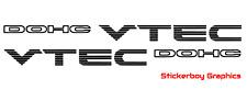 DOHC V-Tec VTEC Sticker Honda Civic Accord Engine K20 B18 B16 B20 250mm x 2