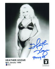 HEATHER KOZAR SIGNED 8x10 PLAYBOY PLAYMATE PROMO PHOTO + PMOY 99 BECKETT BAS