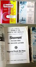 2 STARRETT TOOL CATALOG #27,1976,#28,1978,Illustrated