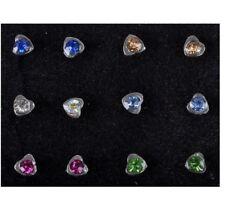 Paquete De 5 piercings para nariz Corazón Estrella Cruz Diseño Colorido Cristal Piercing Lindo