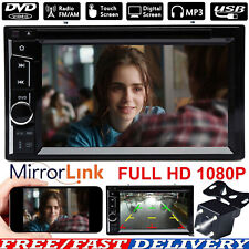 2 DIN HD Touch Screen Car Stereo Bluetooth Player FM AM Radio MirrorLink For GPS
