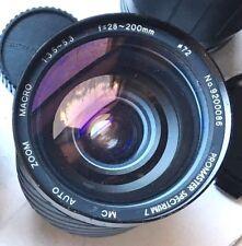 Vivitar Canon FD Mt Series 1 28~200mm f/3.5~5.3 Macro Zoom Lens Good Condition!