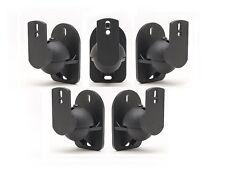 Universal Bose Jewel Cube Speaker Wall Mount Stand Bracket (5 Pack) Black