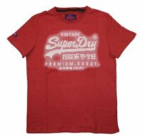Superdry Men's Textured Graphic Print Premium Goods Short Sleeve T-Shirt NWT