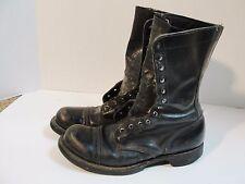 Vintage Corcoran Leather Cap Toe Jump Boots Combat Military Paratrooper 8 D
