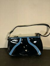 "Vintage WOMEN's STEVE MADDEN DARK NAVY BLUE SHINY NYLON 5.5""x10""  SMALL HAND BAG"