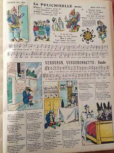 Image D'Épinal Fin XIXèmeù. Chansons Polichinelle Et Verduron.