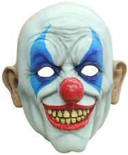 GRINNING CLOWN SCARY LATEX HEAD MASK HALLOWEEN HORROR