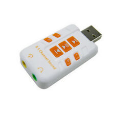 USB DAC Headphone Amplifier for Computer PC Virtual 8.1 CH Sound Card White