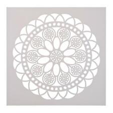 UN3F Round Flower Print Coffee Cake Stencil Fondant Buttercream Spray Mold Decor