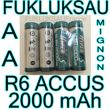 16 x PILES AA | PILES ACCUS RECHARGEABLE MIGNON 2000mAh Ni-MH 1,2V R6 LR6 - PRO