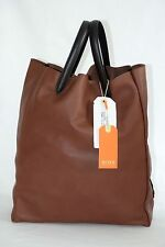 HUGO BOSS ORANGE LEDERTASCHE, Mod. Liah, Made in Italy, Pastel Brown