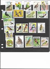 THEMATIC BIRDS USED STAMPS