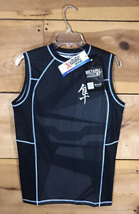 NEW Hayabusa Metaru Silver Rashguard 47 Sleeveless Shirt Mens Size Medium MMA