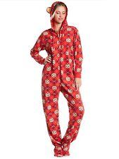 Paul Frank Printed Fleece One Piece Jumpsuit Pajama Size Medium