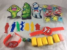 Vintage Kenner The Real Ghostbusters Lot Stencils Popper Foam Arm Bands Targets