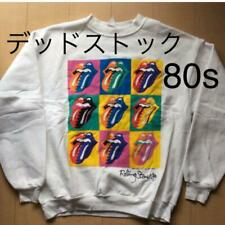 Rolling Stones Tour Sweater Vintage Dead Stock White Mens L Brockum Andy Warhol