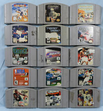 N64 Game Lot of 15 Games (Body Harvest, Perfect Dark, Star Wars Rogue Squadron)