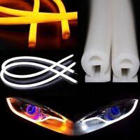 60cm Flexible Car Soft Tube LED Strip Light DRL Daytime Running Headlight Lamp