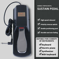 Universal Sustain-Foot Pedal Damper for Digital-Piano Electric Keyboard