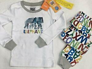 Gymboree Eric Carle elephants boy PJ long sleeves pajamas set size 4 New NWT