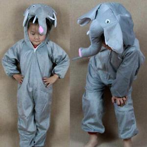 Halloween Party Costumes Children Kids Girl Boys Cartoon Animal Elephant Costume