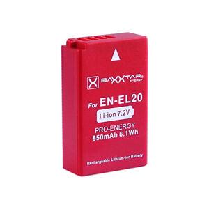 2x   Baxxter Akku EN-EL20 für Pocket Cinema Camera - 850mAh
