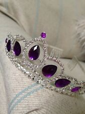 Purple Tiara . Rhinestone Tiara . Wedding Prom Dressing Up Tiara