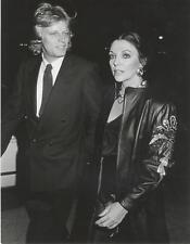 JOAN COLLINS-ORIGINAL PHOTO-CANDID W/PETER HOLM-JANET GOUGH STAMP