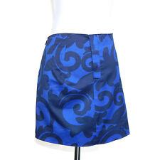 J. CREW Balustrade Blue Ornate Swirls Mini Skirt size 0