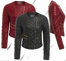 Zip Waist Length Faux Leather Coats & Jackets for Women