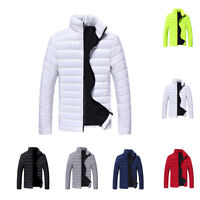 Men Winter Warm Cotton Down Jacket Padded Bubble Puffer Snow Coat Parka Outwear