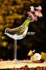 Glass Flower Plant Hydroponic Vase Terrarium Container Home Decor Bird Craft