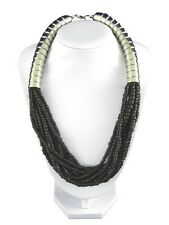 Black and Silver Metal Bead Statement Necklace