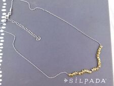 "NIB SILPADA Sterling Silver Brass ""PRECIOUS PEBBLES"" Necklace N3234"