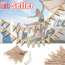 3 M Hessian Flag Banner Bunting Rustic Wedding Birthday Party Decorations